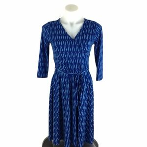 41 Hawthorn Stitch Fix Faux Wrap Dress Blue Teal